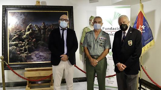 El cuadro de Ferrer-Dalmau del centenario de La Legión se expone en Almería