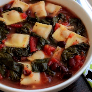 Spinach and Black Bean Ravioletti Soup Recipe