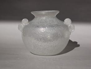 Photo: AVEM pulegoso e iridato vase with applied handles.