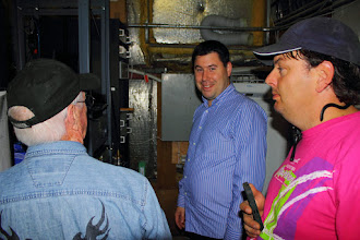 Photo: Roy, William and Garth discussing where the HSMM system will reside in the new rack