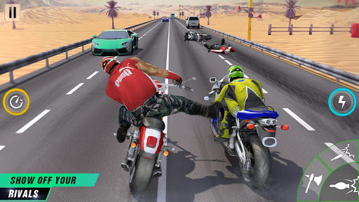 Crazy Bike Attack Racing New: Motorcycle Racing  captures d'écran 1