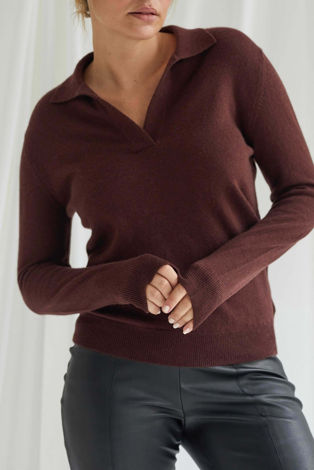 Open Collar Sweater