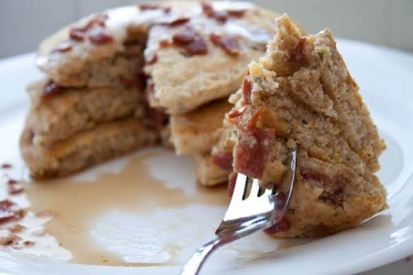 Gluten Free Bacon Parmesan Cornmeal Pancakes Recipe