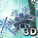 Falling Snowflakes 3D Live Wallpaper icon