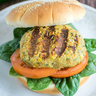 Zucchini Chickpea Burger [Vegan, Gluten-Free]