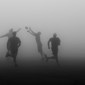 The Fog Bowl by Joshua Meyer - Sports & Fitness American and Canadian football ( football, fog, thanksgiving, twmf, turkey bowl )