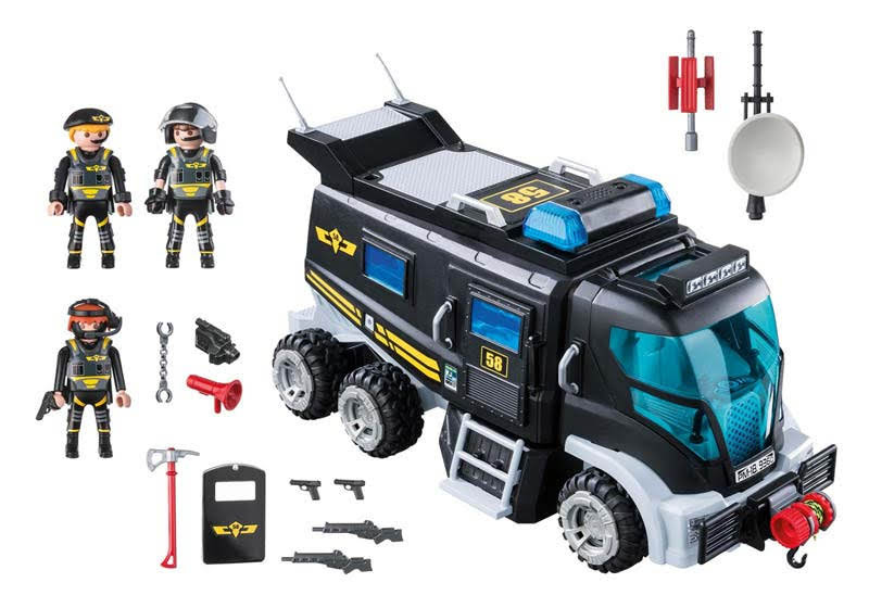Contenido real de Playmobil® 9360 Vehículo Fuerzas Especiales