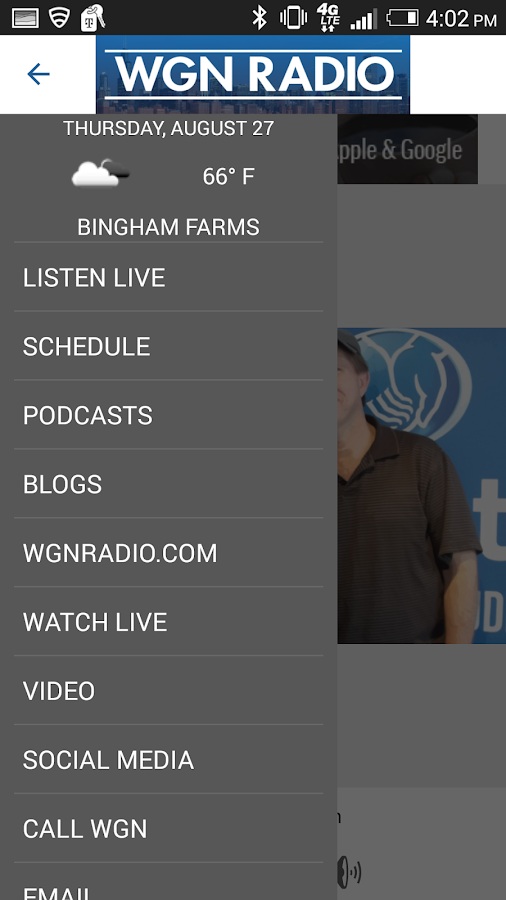 WGN Radio, Chicago's Very Own- screenshot