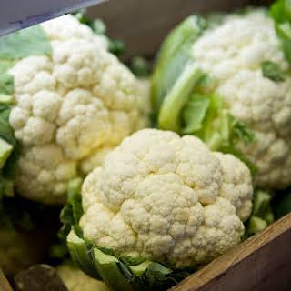 Raw Vegan Cauliflower Rice with Garlic and Nama Shoyu.