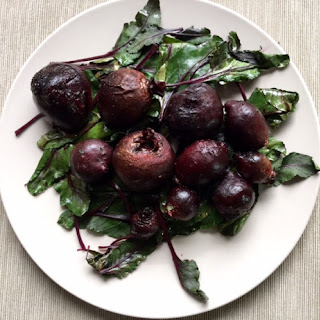 Oven Roasted Beets with Beet Greens