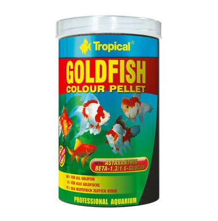 Tropical Goldfish Colour Pellets 1000ml/360g