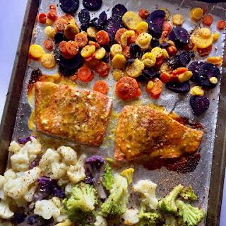 One-Pan Salmon Meal Prep.