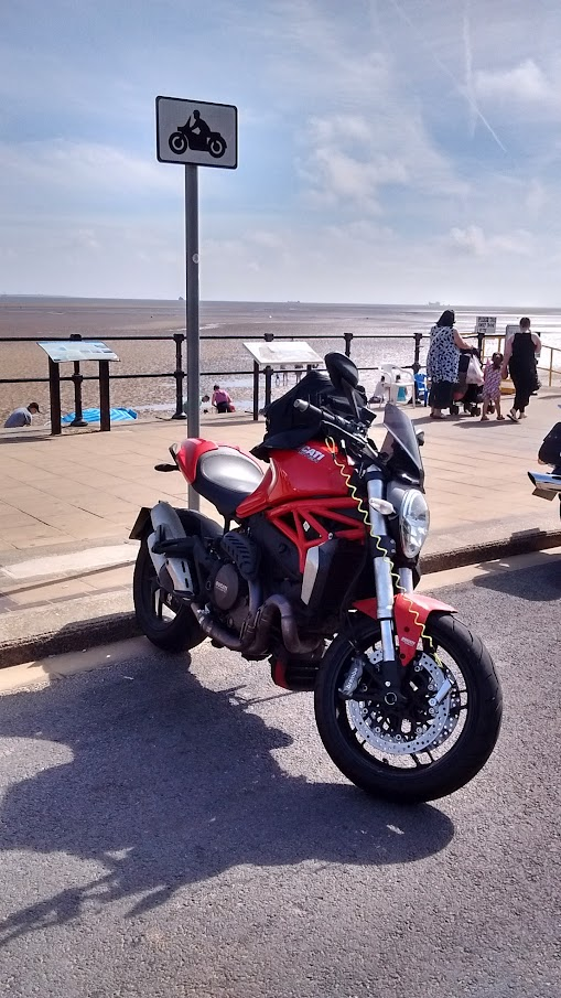 Ducati Monster 1200 at Cleethorpes Pier