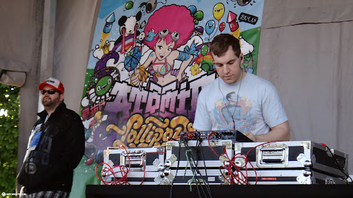 atomic lollipop DJ at work at anime north 2013 in Toronto, Ontario, Canada