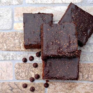 Bailey's Irish Cream Brownies with Chocolate Ganache.