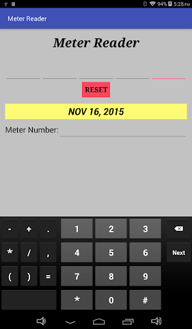 android Meter Reader Assistant Screenshot 0
