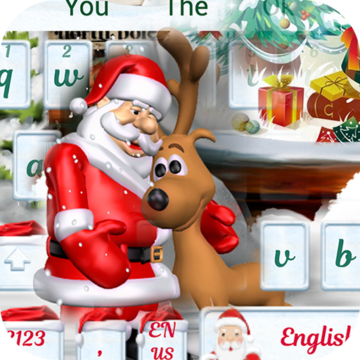 Merry Christmas theme keyboard with Santa Claus (app)