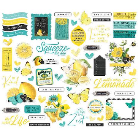 Simple Stories Bits & Pieces Die-Cuts 60/Pkg - SV Lemon Twist Icons
