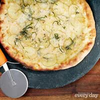 Pizza with Roasted Garlic, Potato, Sage, Fontina and Truffle