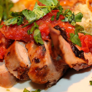 Grilled Chipotle Honey Bourbon Pork Tenderloins with Sweet Onion Salsa