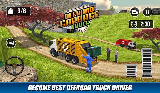 Offroad Garbage Truck: Dump Truck Driving Games apktram screenshots 4