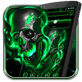 Green Fire Skull Theme
