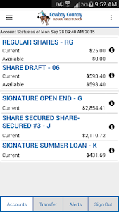 CCFCU Mobile Banking screenshot 1
