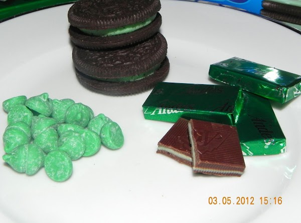 Here was the choices of minty candies and cookies we tried. Noah my 8...