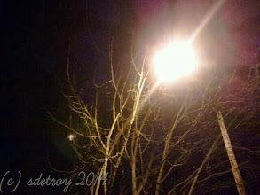 Photo: Street lights providing illumination on my street in the winter months.