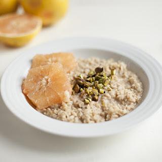 Basmati Rice, Cardamom, and Pistachio Porridge with Grapefruit (Gluten Free) Recipe