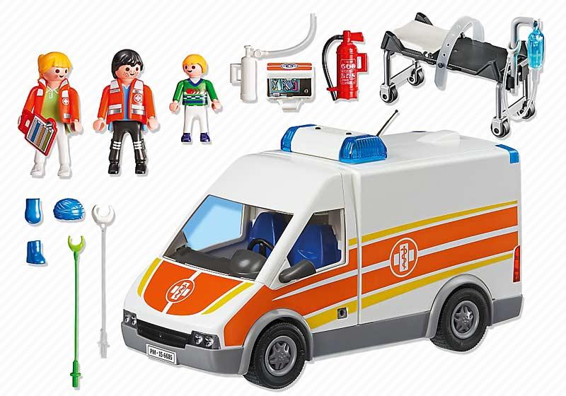 Contenido Real de Playmobil® 6685 Ambulancia con Luz y Sonido
