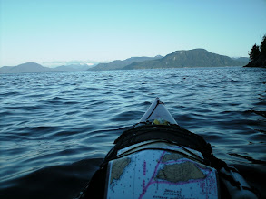 Photo: June 10 - Heading west in Wright Sound with Verney Passage to the right and Douglas Channel to the left.