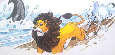 शेर और व्हेल की मित्रता short moral story in hindi for class 1