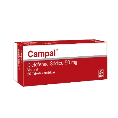 Diclofenac Sódico Campal 50 mg x 20 Grageas Meyer 50 mg x 20 Grageas
