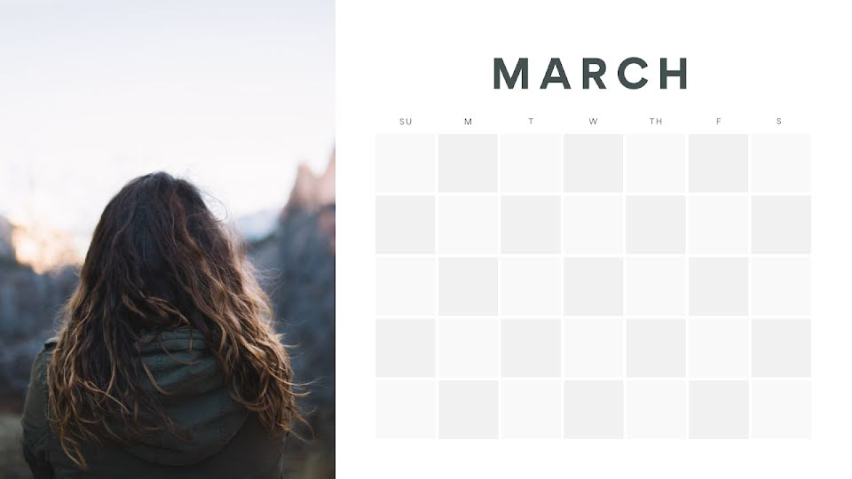 Checkered Monthly - Calendar Template