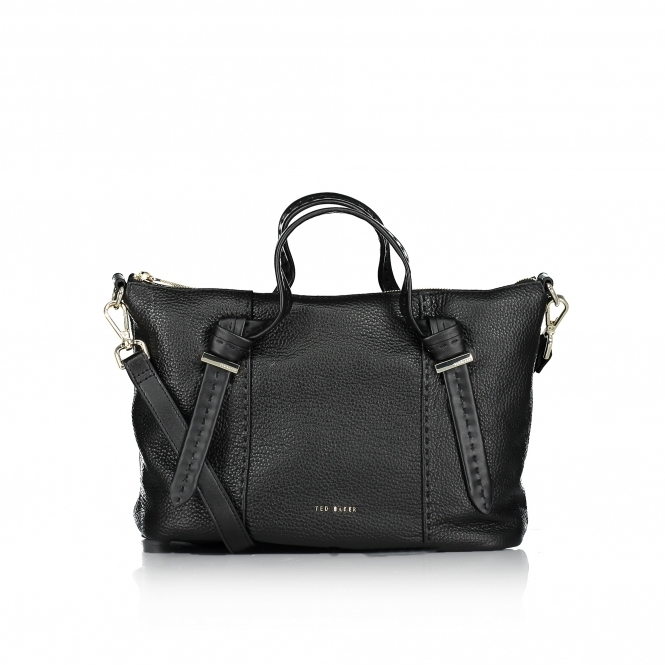 TED BAKER Olmia Knotted Handle Small Leather Tote