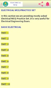 Electrical MCQ App Download for Android 3
