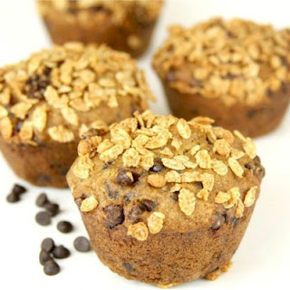 Banana Chocolate Chip Muffins with Granola Crunch Topper