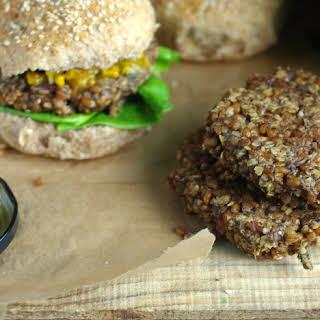 Wheat Berry Mushroom Burgers.