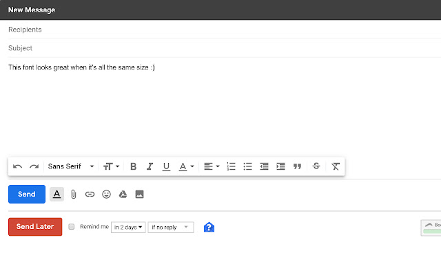 Gmail text formatter