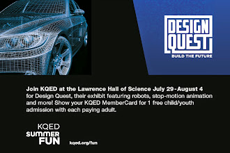 Photo: Join KQED at the Lawrence Hall of Science July 29-August 4 for Design Quest, their exhibit featuring robots, stop-motion animation and more! Show your KQED MemberCard for 1 free child/youth admission with each paying adult. http://ow.ly/nmR25