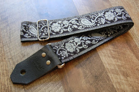 Bluebird Standard Series Black & Silver Paisley Strap