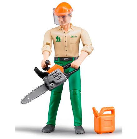 Bruder Skogsarbetare med tillbehör