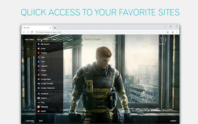 Rainbow Six Siege Wallpaper HD Custom New Tab