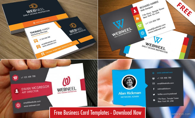 Photo: 10 Professional Free Business Card Templates with source files http://webneel.com/business-card-template-psd-free