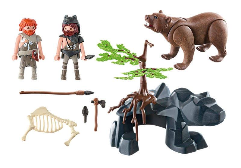 Contenido real de Playmobil® 5103 Cavernicolas con Oso