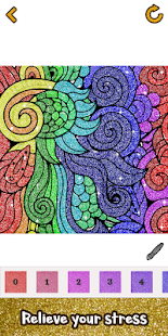 Adult Glitter Color by Number Book - Sandbox Pages poster