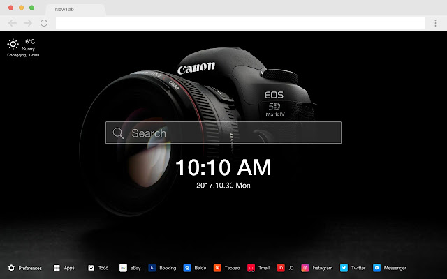 Lens New Tab HD Popular Cameras Themes