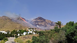 Incendio en Las Negras. Foto de Fer Cruz