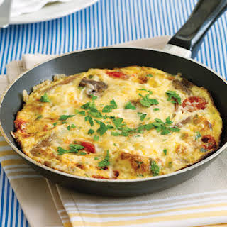 Sausage and Cheddar Frittata.